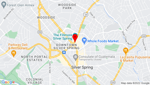 Google Map of 8633 Colesville Road, Silver Spring, MD 20910