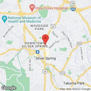 Map of Guitar Center at 8661 Colesville Rd, Silver Spring, MD 20910
