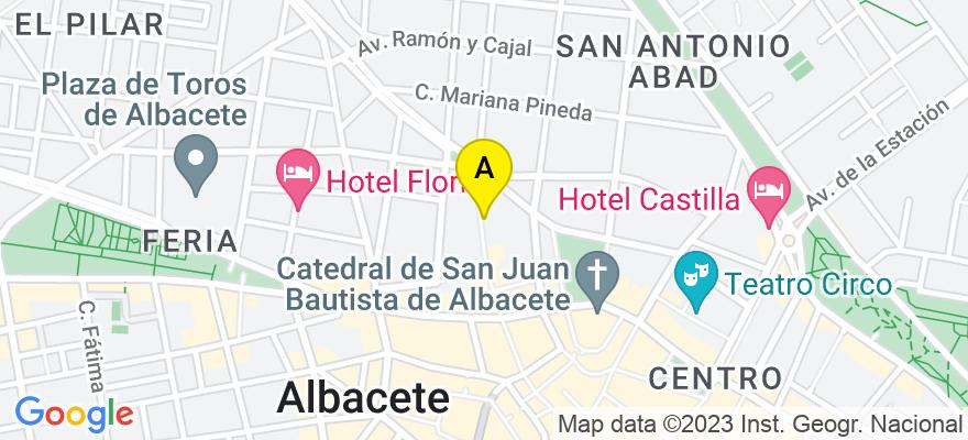 situacion en el mapa de . Direccion: Zapateros, 38, 2º A, 02005 Albacete. Albacete