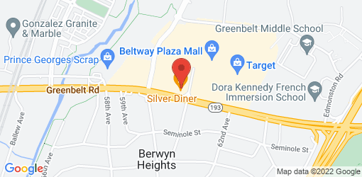 Directions to Silver Diner- Greenbelt