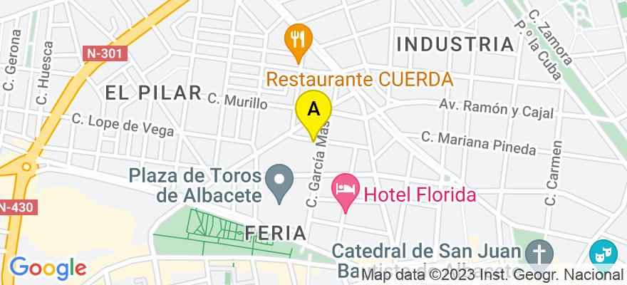 situacion en el mapa de . Direccion: C/ Melchor de Macanaz 13, 02005 Albacete. Albacete