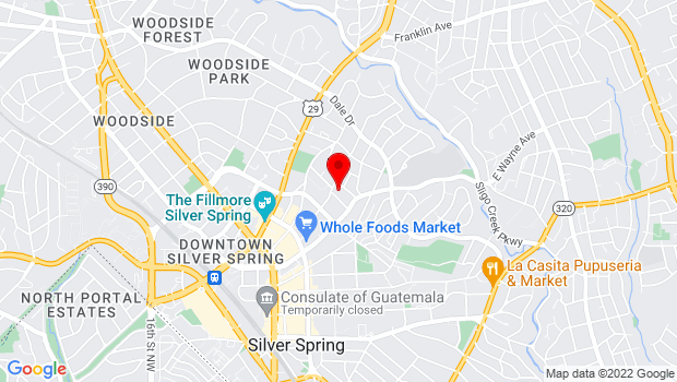 Google Map of 620 Pershing Drive, Silver Spring, MD 20910