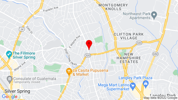 Google Map of 8739 Flower Ave, Silver Spring, MD 20901