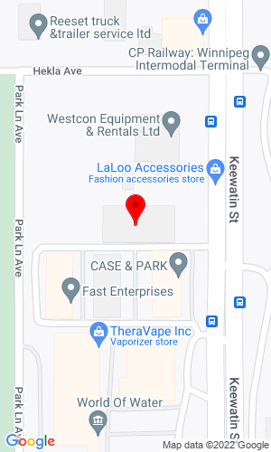 Google Map of Westcon Equipment & Rentals Ltd 380 Keewatin Street, Winnipeg, MB, R2X 2R9