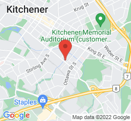 Google Map of 380+Courtland+Avenue%2CKitchener%2COntario+N2G+2W2