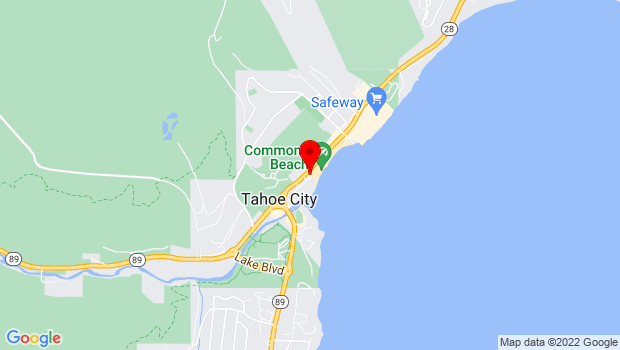 Google Map of 380 N Lake Blvd., Tahoe City, CA 96145