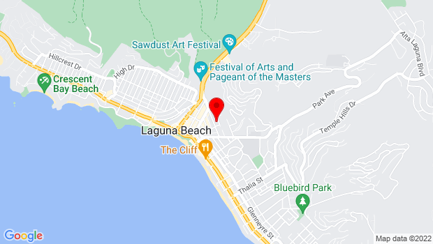 Google Map of 380 Third Street, Laguna Beach, CA 92651