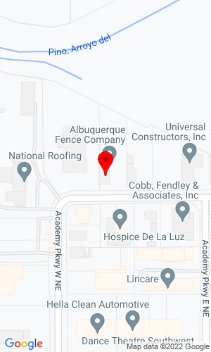 Google Map of Construction Rental & Supply 3807 Academy Parkway North E, Albuquerque, NM, 87109