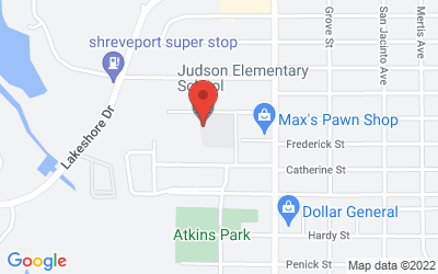 Map of 3809 Judson Street, Shreveport, LA, USA