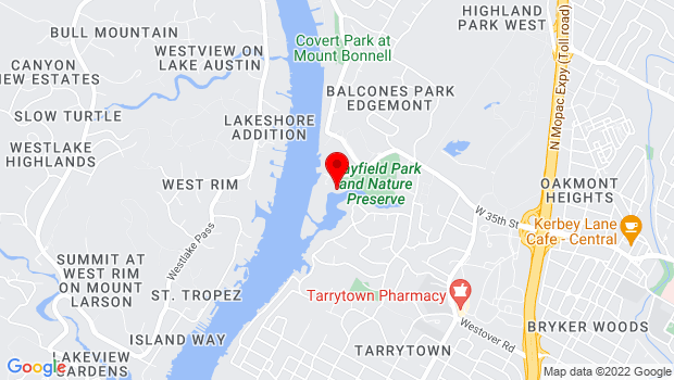 Google Map of 3809 West 35th St, Austin, TX 78703