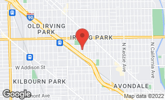 Map of 3817 North Hamlin Avenue CHICAGO, IL 60618