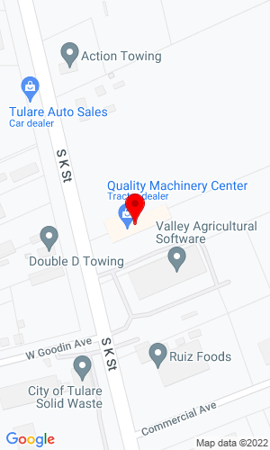 Google Map of Quality Machinery Center 3820 S. K Street, Tulare, CA, 93274