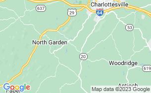 Map of Charlottesville KOA