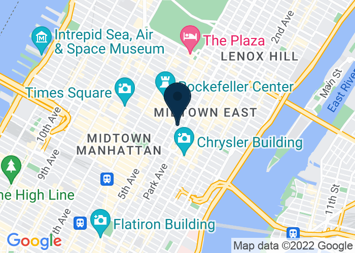 Map of 383 Madison Avenue (Madison at 47th Street), New York, NY 10179, United States
