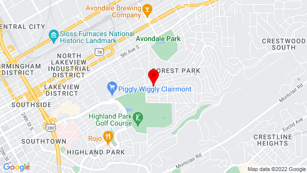Google Map of 3831 Clairmont Ave   , Birmingham, AL 35222