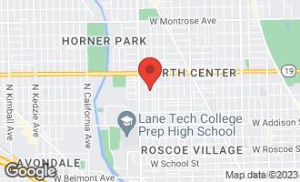 Map of 3840 North Oakley Avenue CHICAGO, IL 60618