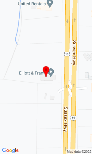 Google Map of Elliott & Frantz, Inc. 38420 Sussex Highway, Delmar, DE, 19940