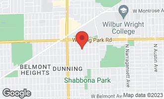 Map of 3843 North Nora Avenue CHICAGO, IL 60634