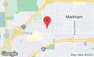 Map of 3845 West 166th Place MARKHAM, IL 60428