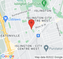 Google Map of 3875+Bloor+St+W%2CEtobicoke%2COntario+M9B+1L4