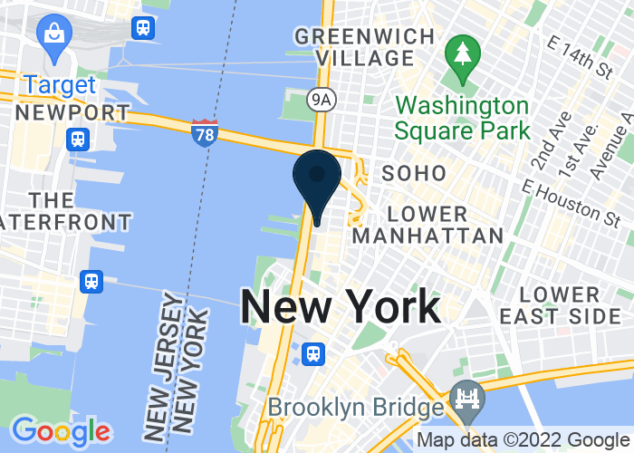 Map of 388 Greenwich Street, New York, NY, United States