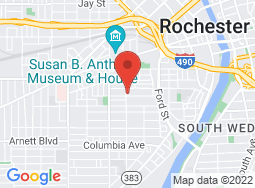 Location of Rochester Bible Institute on a map