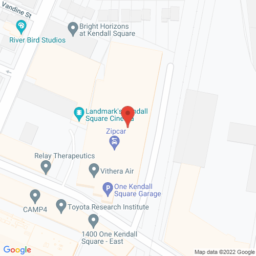 Map of the area around One Kendall Square Garage