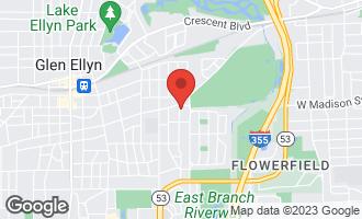 Map of 389 Grandview Avenue GLEN ELLYN, IL 60137
