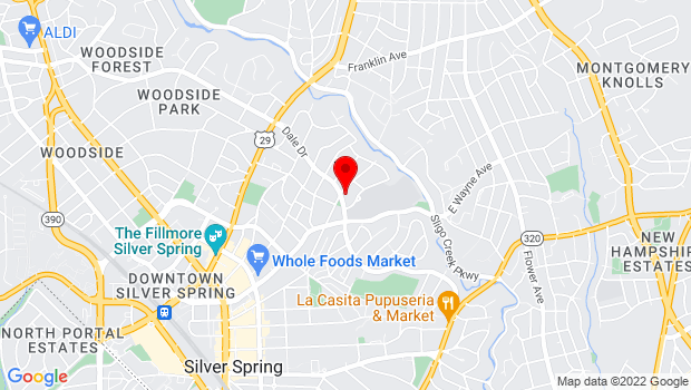 Google Map of 531 Dale Drive, Silver Spring, MD 20910