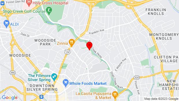 Google Map of 599 Bennington Drive, Silver Spring, MD 20901