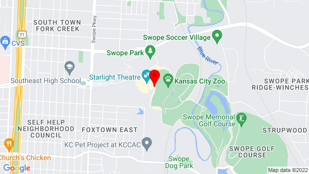 Google Map of 4600 Starlight Road, Kansas City, MO 64152