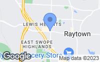 Map of Raytown, MO