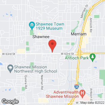Map of Panera Bread at 10606 Shawnee Mission Parkway, Shawnee, KS 66203