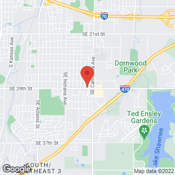 Map of Arby's at 1820 Se 29th St, Topeka, KS 66605