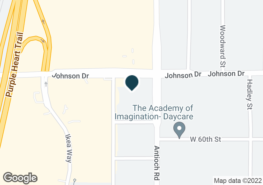Google Map of8701 JOHNSON DR