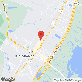Map of Verizon Authorized Retailer - TCC at 3159 Route 9 S, Rio Grande, NJ 08242