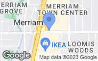 Map of Merriam, KS
