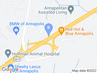 Map of Hoffman Animal Hospital Dog Boarding options in Annapolis | Boarding