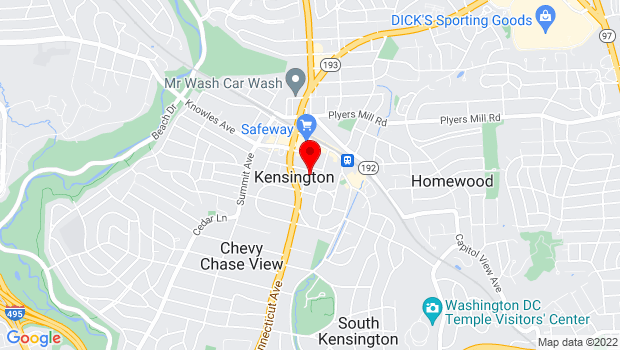 Google Map of 3710 Mitchell St., Kensington, MD 20895