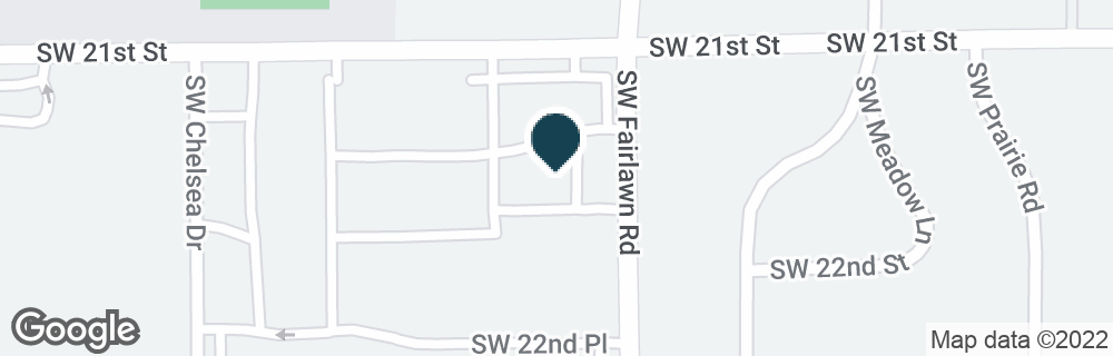 Google Map of2121 SW FAIRLAWN RD