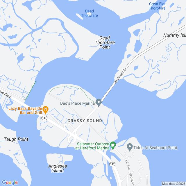 Map of Grassy Sound Bridge