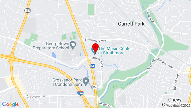 Google Map of 5301 Tuckerman Lane, North Bethesda, MD 20852