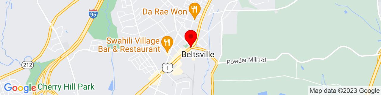 Google Map of 39.03472222222222, -76.9075