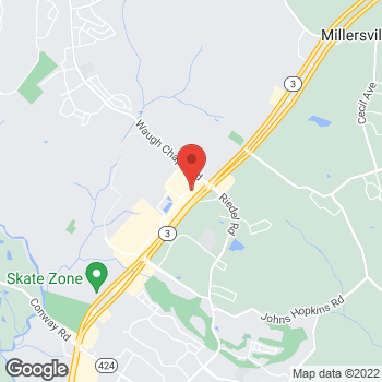 Map of Arby's at 2623 Brandermill Blvd, Gambrills, MD 21054-1645