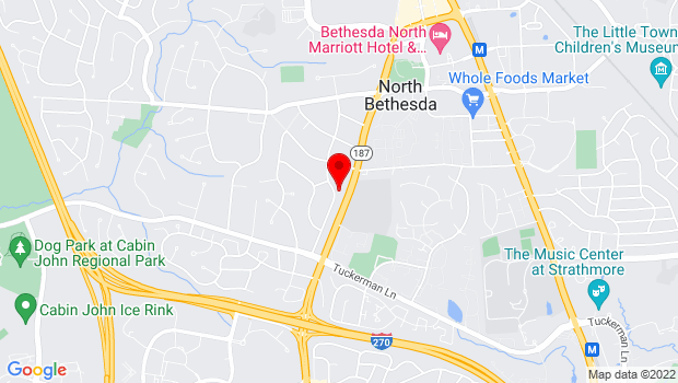 Google Map of 11200 Old Georgetown Road, North Bethesda, MD 20852