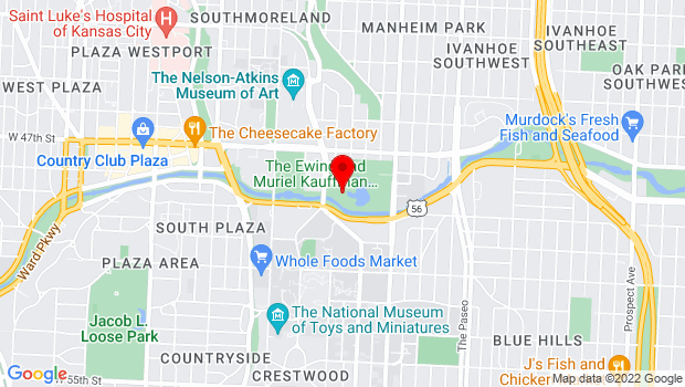 Google Map of 4801 Rockhill Road, Kansas City, MO 64110