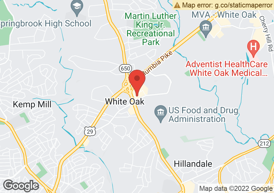 Google Map of 11215 NEW HAMPSHIRE AVE