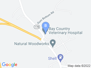 Map of Bay Country Veterinary Hospital Dog Boarding options in Crownsville | Boarding
