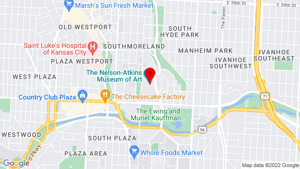 Google Map of 4525 Oak Street, Kansas City, MO 64111