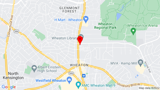 Google Map of 2400 Arcola Avenue, Wheaton, MD 20902
